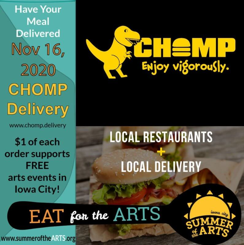 social media graphic for CHOMP delivery