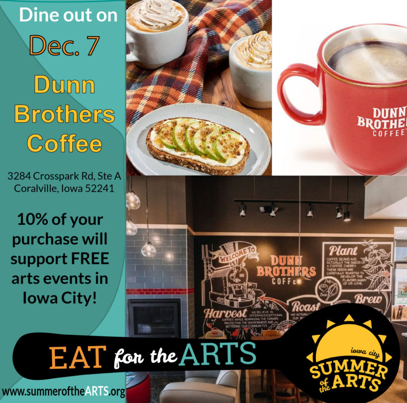 Dunn Brothers Eat for the Arts social media graphic