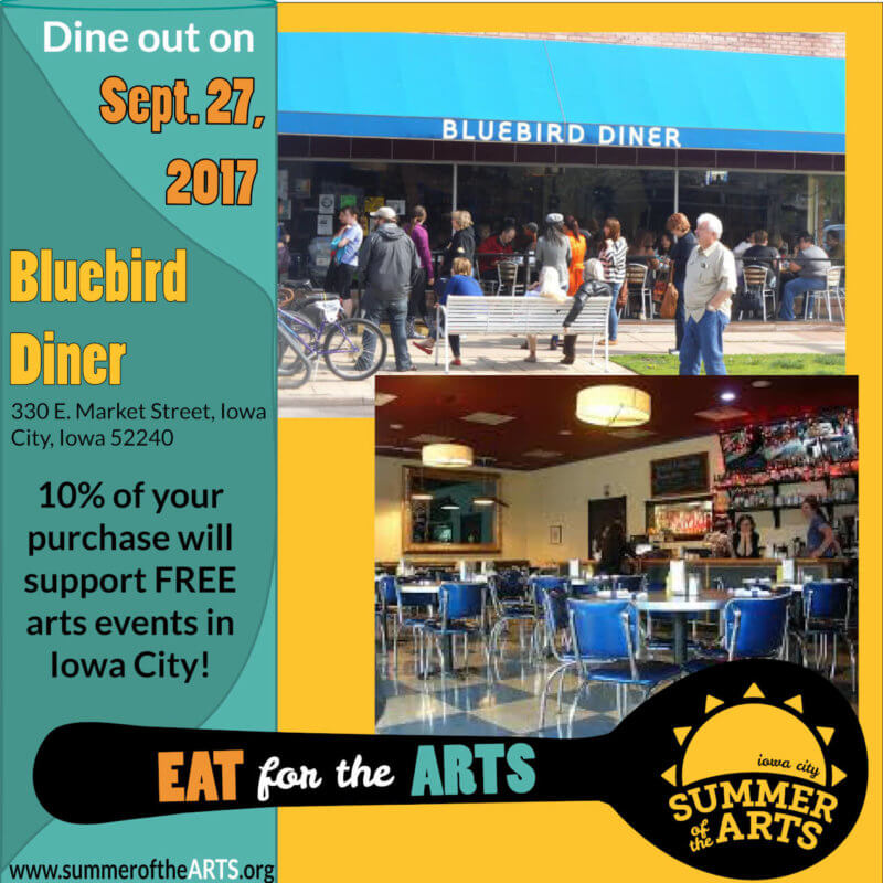 Eat for the Arts at Bluebird Diner