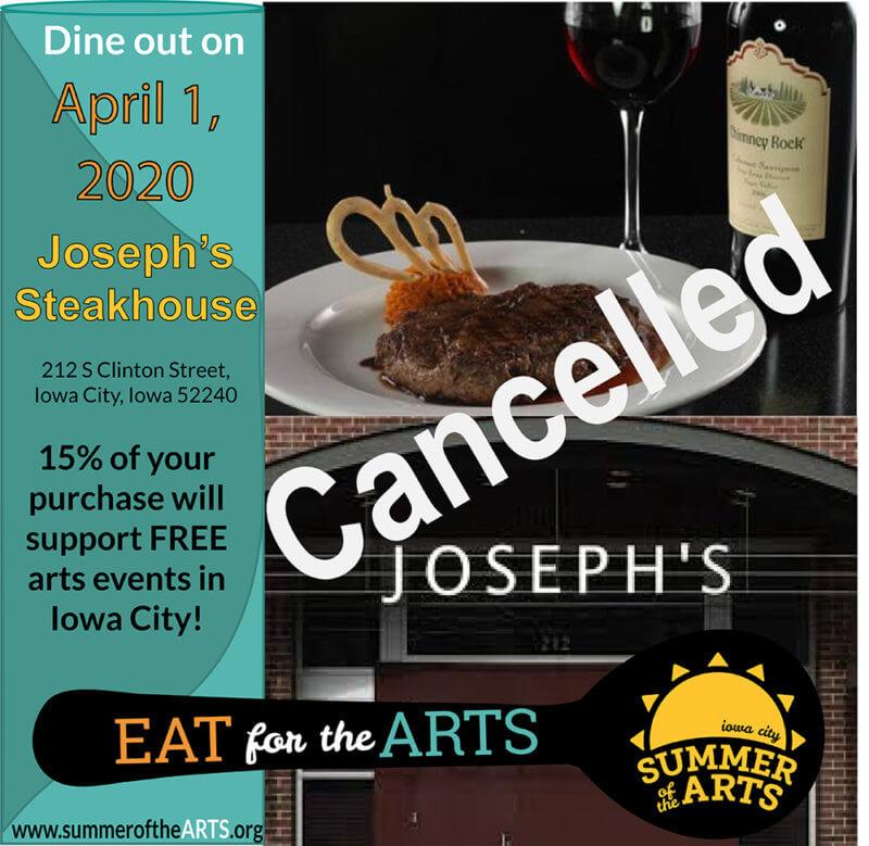 eat-for-the-arts-josephs-steakhouse-poster